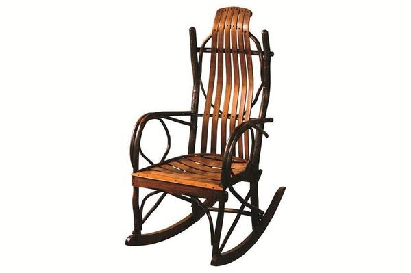 Amish Hickory Overtall Rocking Chair