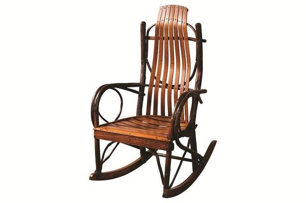 Amish Made Hickory Jumbo Porch Rocker
