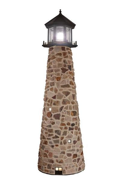 Amish-Made Stone Custom Yard Lighthouse