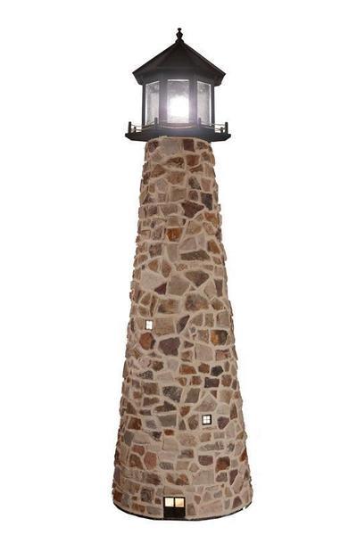 Amish-Made Stone Custom Yard Lighthouse