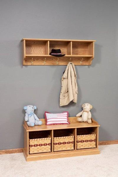 Amish Traditional Storage Bench with Optional Baskets
