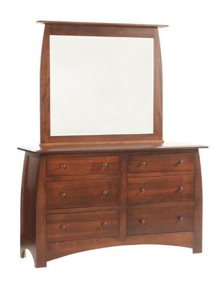 "Amish Bordeaux 62"" Low Dresser"