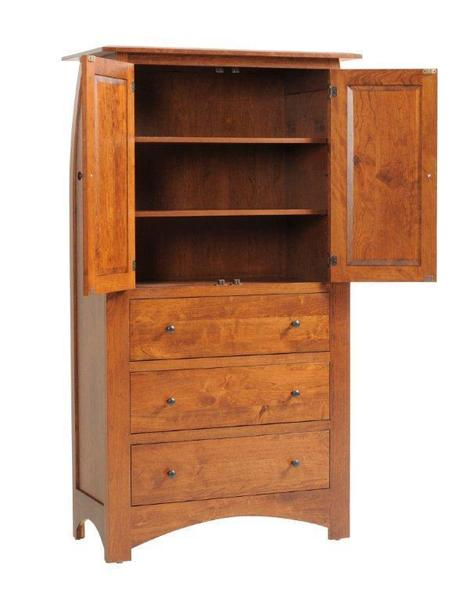 Amish Bordeaux Solid Wood Armoire