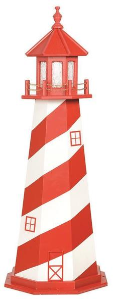 Amish Wooden Decorative Lawn Lighthouse White Shoal