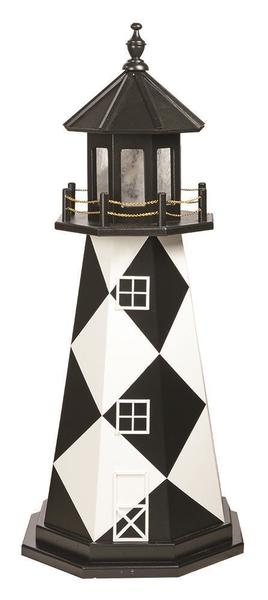Amish Wooden Garden Lighthouse Cape Lookout