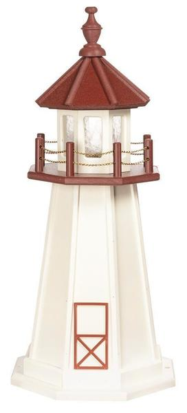 Amish Custom Crafted Lawn Lighthouse Marblehead Decorative Replica