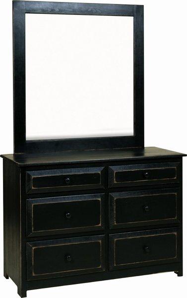 Amish Pine Wood Dresser with Optional Mirror
