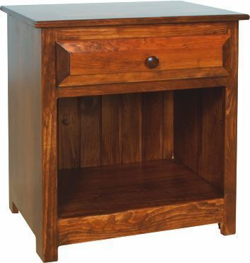 Amish Pine One Drawer Night Stand
