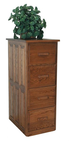 Amish Four Drawer Vertical File Cabinet