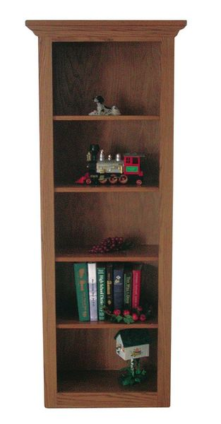 Amish Traditional Narrow Bookcase