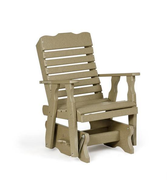 Amish Leisure Lawns Single Curve-Back Poly Glider Chair
