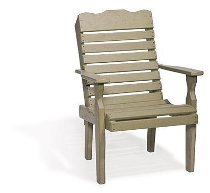 Amish Handcrafted Curve Back Poly Patio Chair