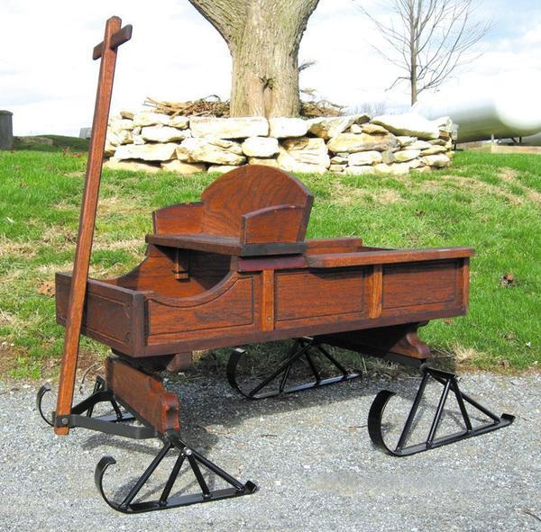 Amish Old Fashioned Buckboard Wagon - Medium Rustic