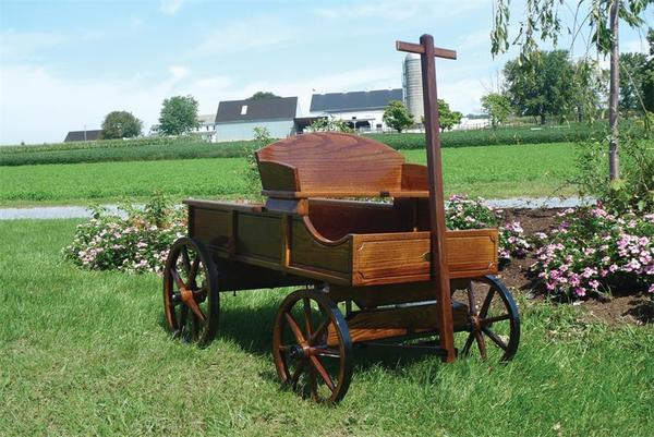 Amish Old Fashioned Buckboard Wagon - Medium Rustic