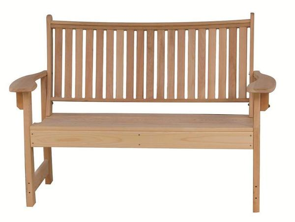 Amish Cypress Outdoor English Garden Bench