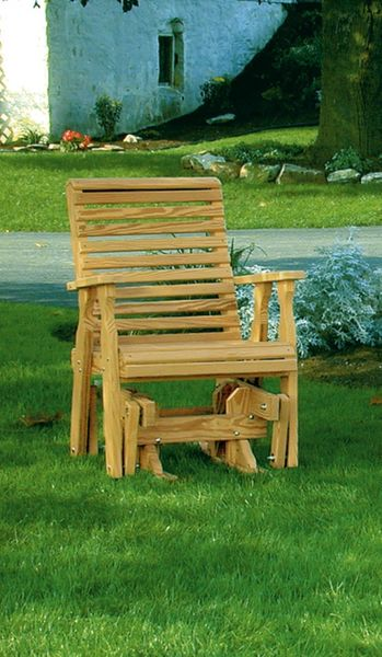 Amish Pine Wood Rollback Single Glider