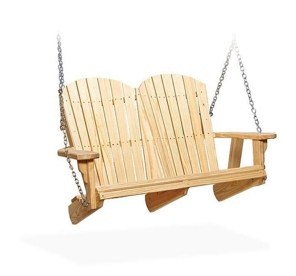 Amish Pine Wood Fan Back Swing