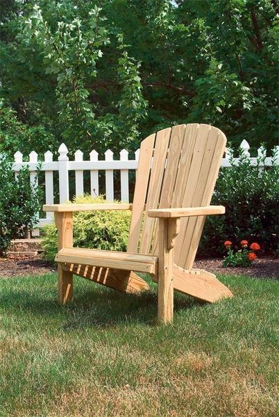 Amish Pine Wood Fan Back Garden Chair