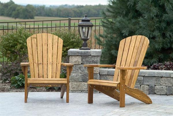 Pine Wood Fan Back Adirondack Chair From Dutchcrafters Amish Furniture