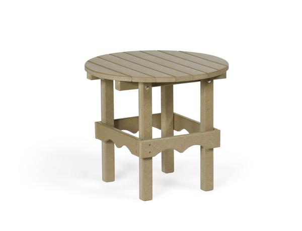 Amish Leisure Lawns Outdoor Recycled Poly Round Side Table