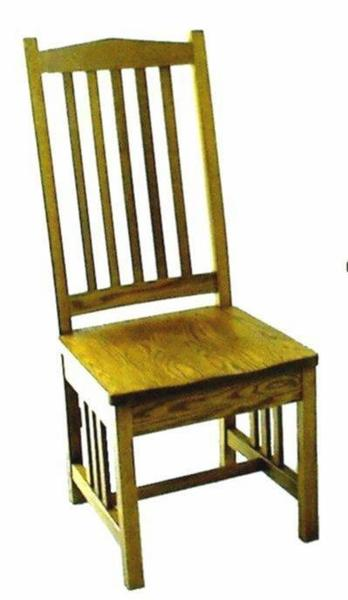 Ohio High Mission Dining Chair From Dutchcrafters Amish Furniture