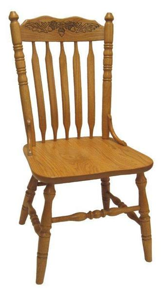 Amish Ohio Bent Cattail Press Back Dining Chair