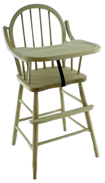 Amish Oak Wood Spindle-Back Windsor Baby High Chair