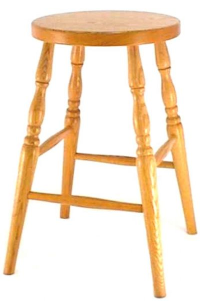 Amish Ohio Round Backless Barstool