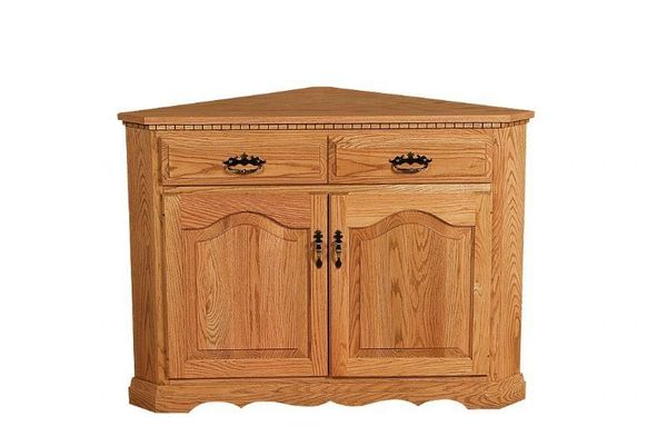 Exceptionnel Amish Solid Wood Corner Buffet Cabinet