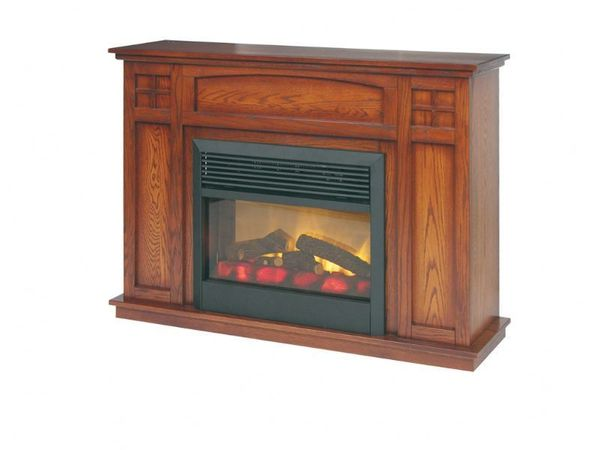 Amish Craftsman Mission Mantle Electric Fireplace