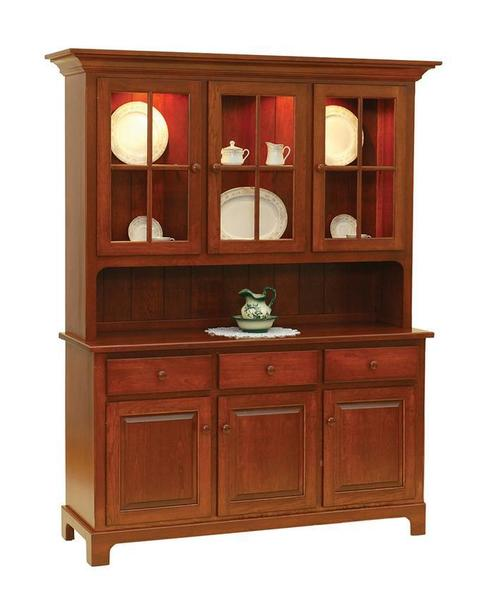Amish Shaker Three Door Hutch