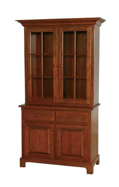 Amish Shaker Two-Door Hutch