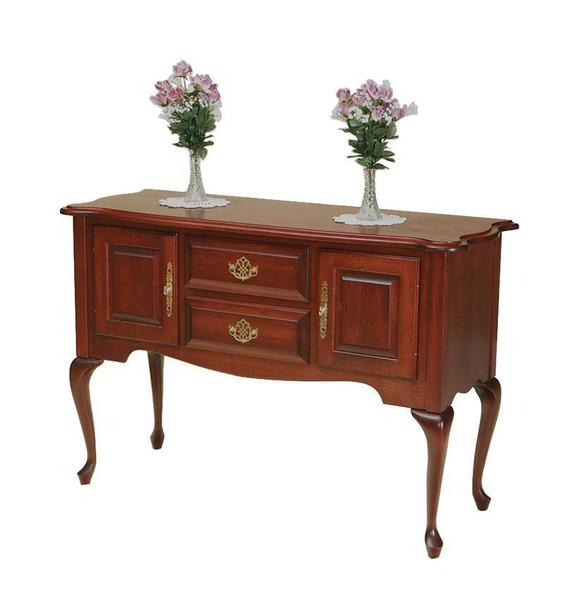 Amish Rustic Dining Room Sideboard Server Buffet Cambridge: Queen Anne Sideboard From DutchCrafters Amish Furniture