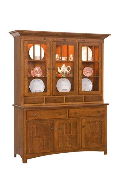 Amish Royal Mission Three-Door Hutch