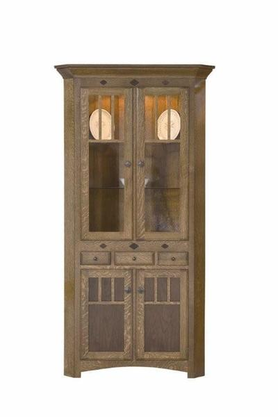 Amish Royal Mission Corner Hutch