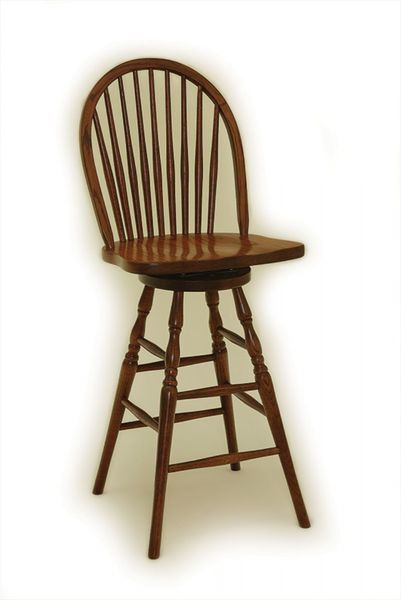 Amish Windsor Bar Stool with Nine Spindles