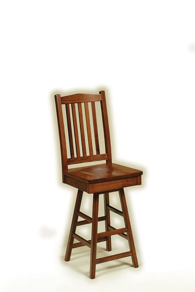 Amish American Mission Swivel Barstool