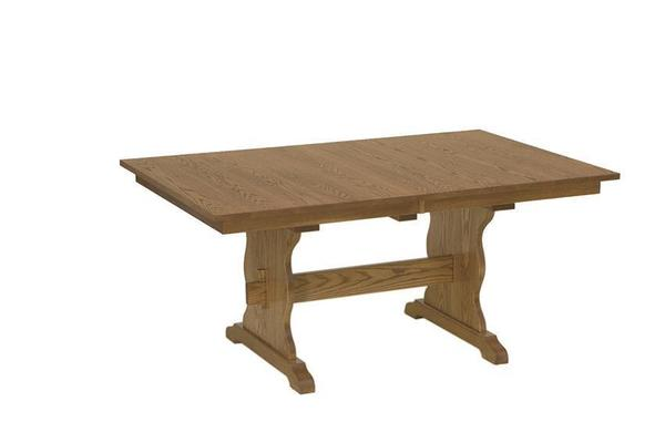 Amish Trenton Trestle Extendable Dining Table
