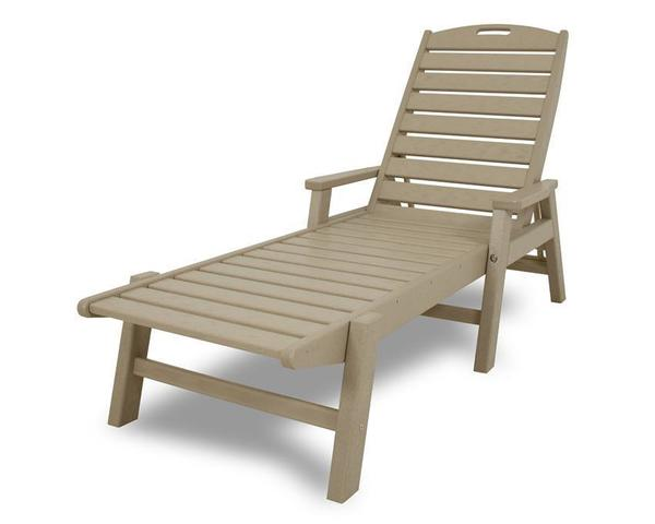 POLYWOOD® Nautical Chaise Lounge - Stackable