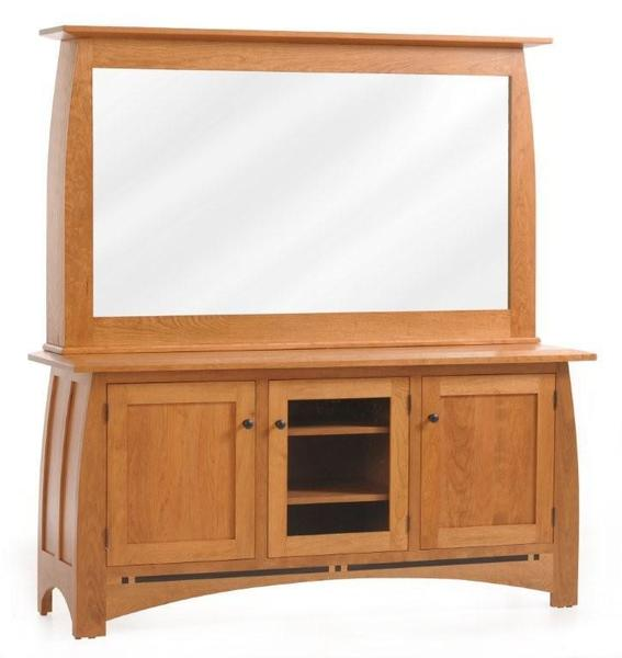 Vineyard Amish Entertainment Center with One Way TV Mirror