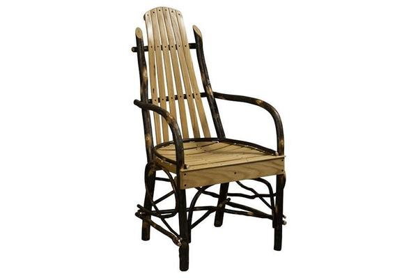Rustic Hickory Deluxe Dining Room Chair From Dutchcrafters Amish