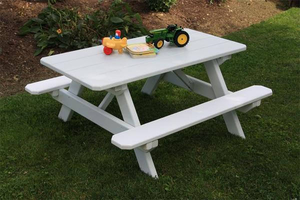 Amish Pine Wood Kid's Picnic Table