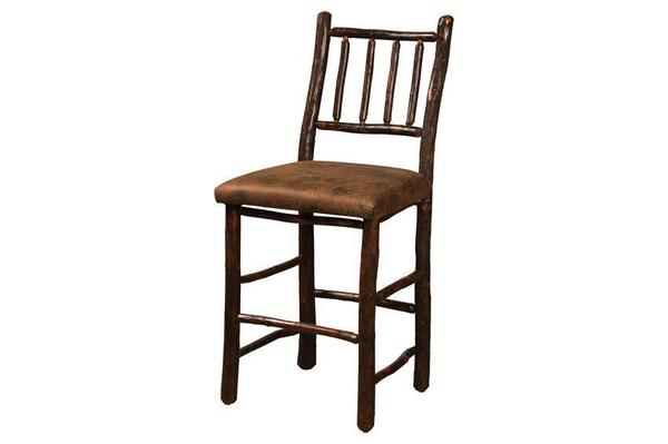 Amish Early American Four Spindle Hickory Bar Stool
