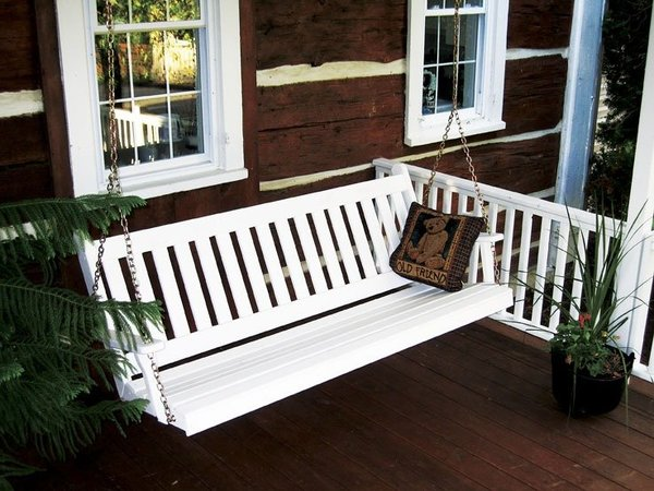 Amish Pine Wood Traditional English Porch Swing