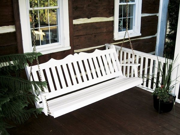 Amish Pine Wood Royal English Porch Swing