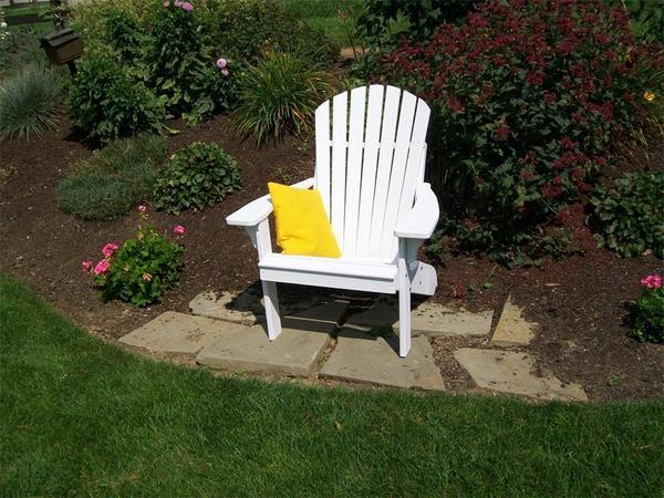 Amish Pine Wood Fanback Adirondack Chair
