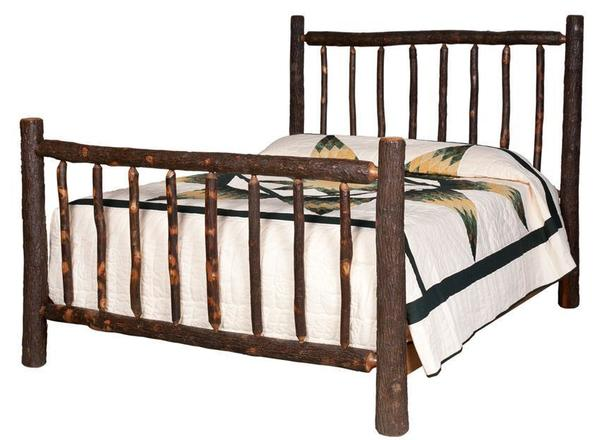 Amish Lumberjack Hickory Wood Bed