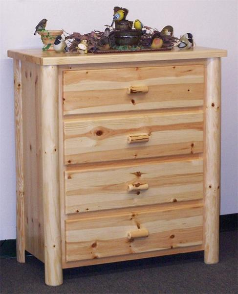 Amish Pine Four Drawer Chest of Drawers