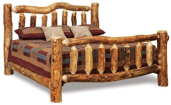 Amish Rustic Log Bed
