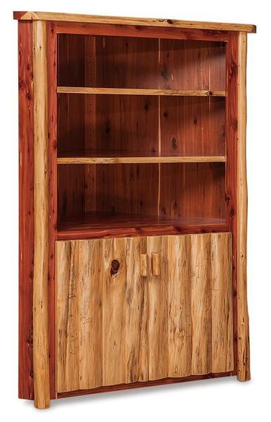 Rustic Log Corner Hutch Cabinet From Dutchcrafters Amish Furniture